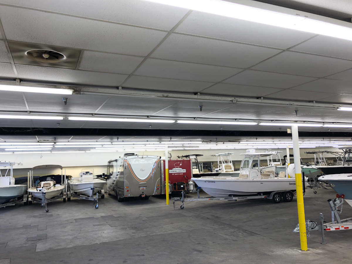 Indoor Charleston boat storage